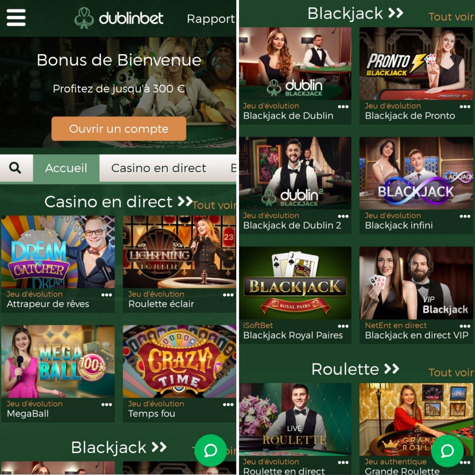 version mobile Dublinbet casino