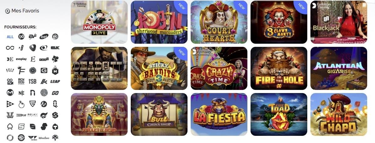 azur casino providers