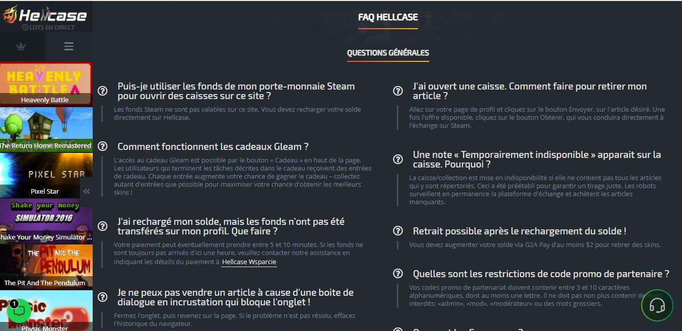 FAQ hellcase
