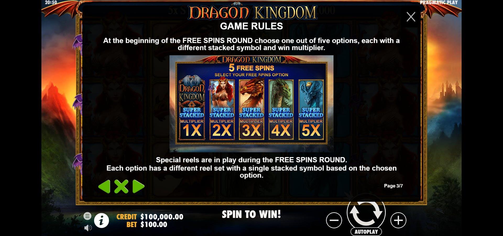 bonus dragon kingdom