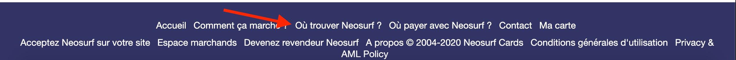 footer neosurf