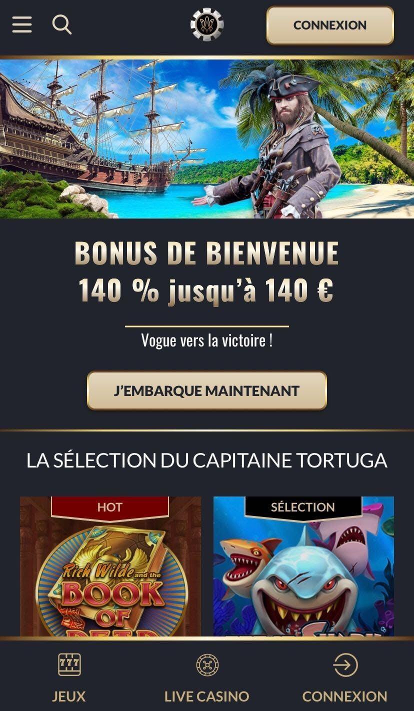 tortuga casino mobile