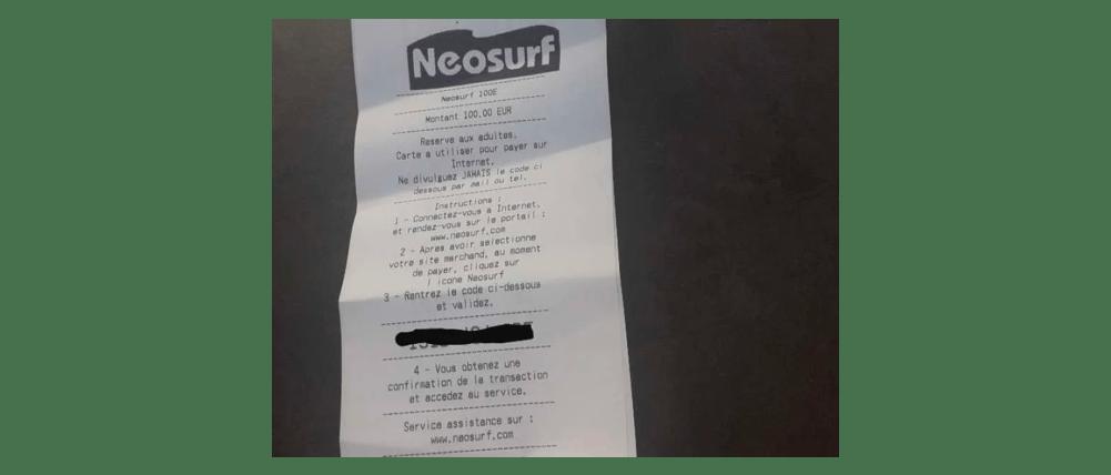 neosurf ticket