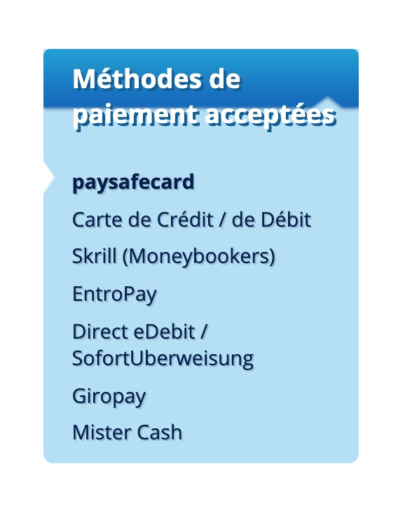 payment method Scratchmania