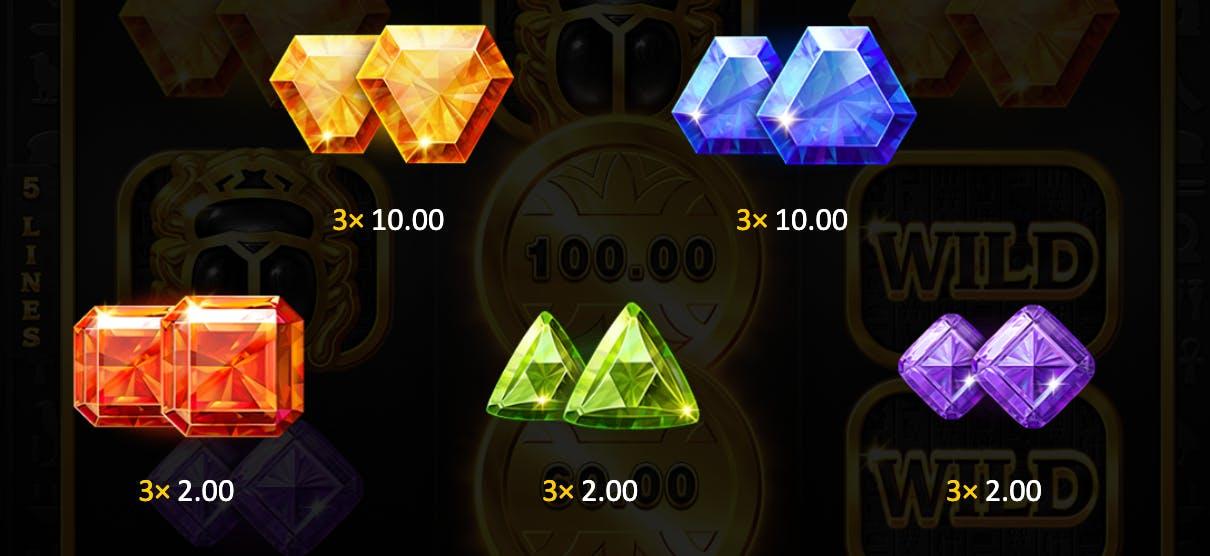 3 coins symboles non premiums