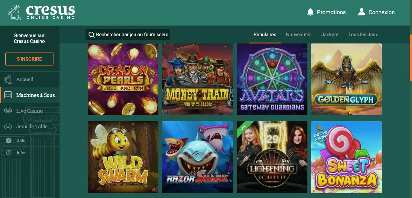 machines à sous cresus casino
