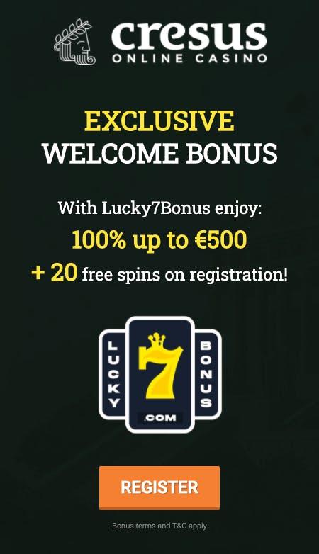 exclusif bonus lucky7bonus at casino extra