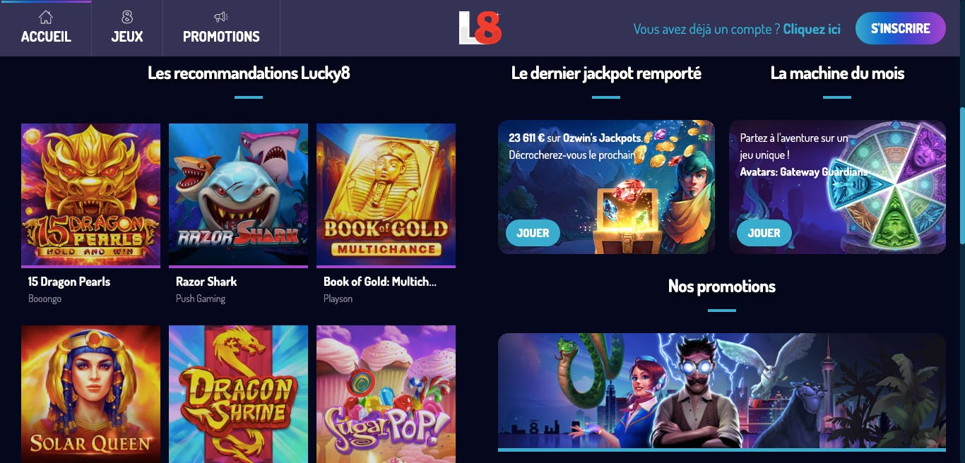 Informations Lucky8 Casino