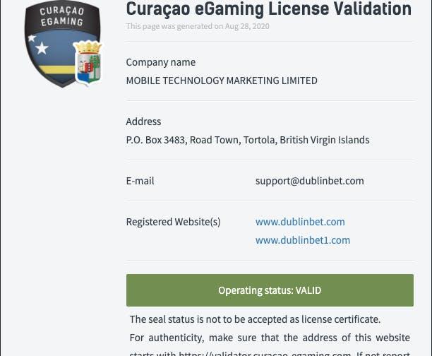 licence dublinbet casino