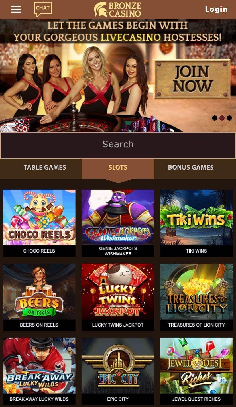 bronze casino on mobile