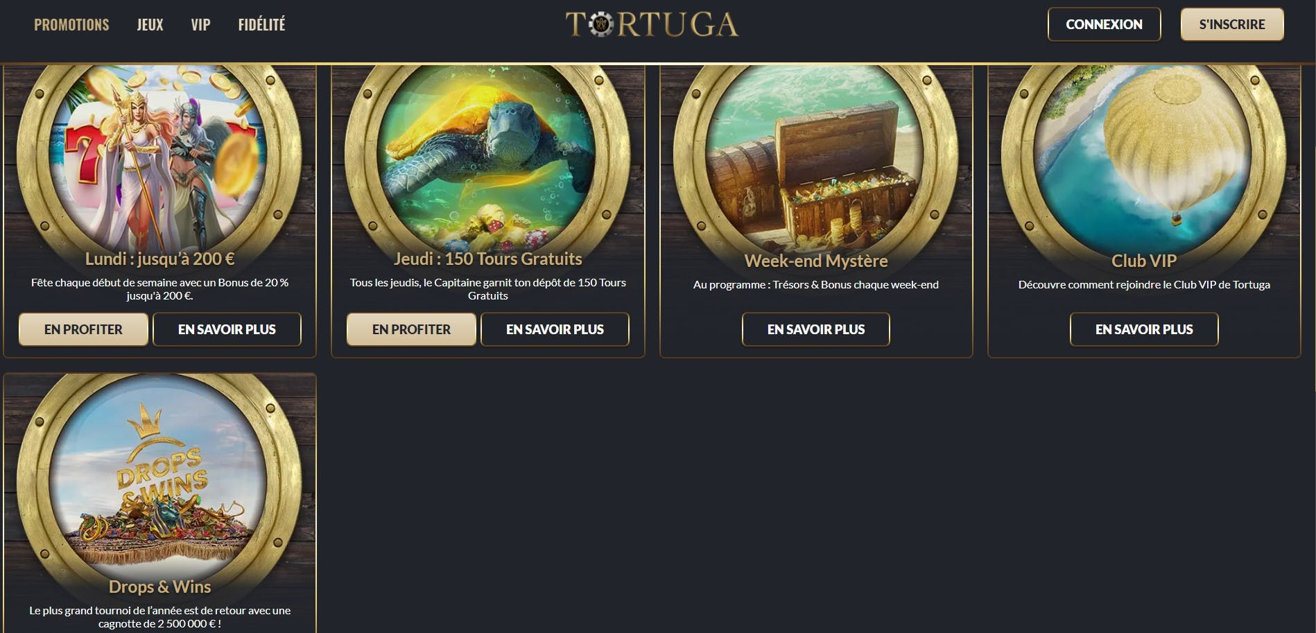 promotions tortuga