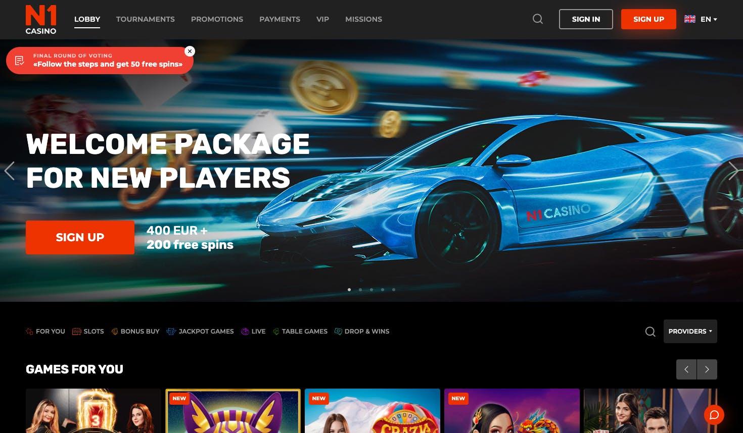 landing page N1 casino