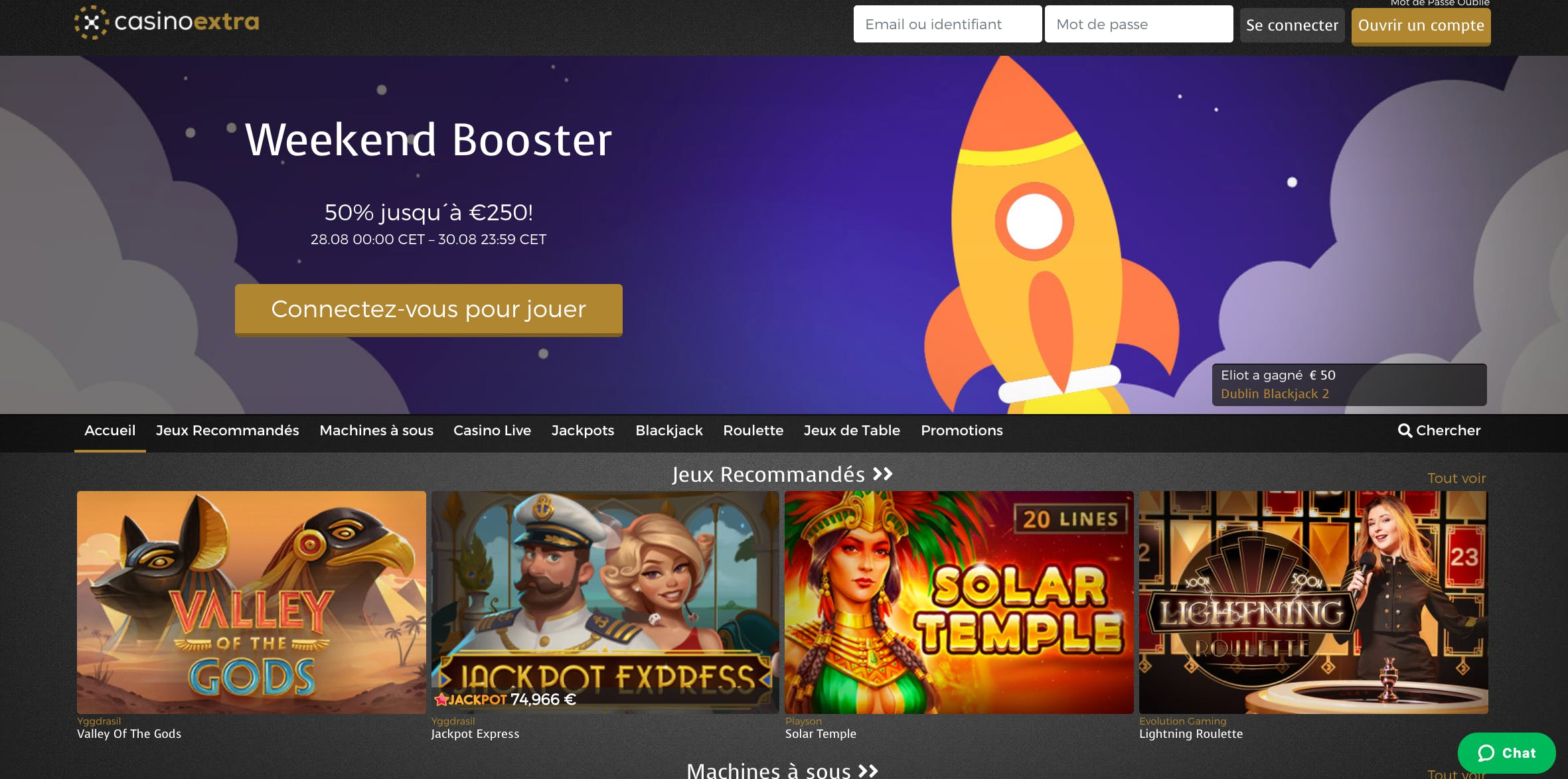 homepage casino extra