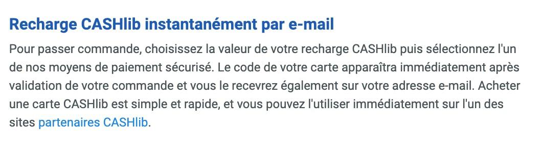recharge cashlib e-mail