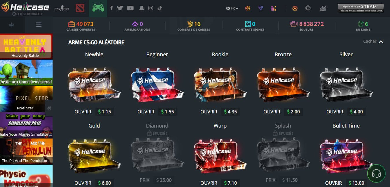 caisses hellcase