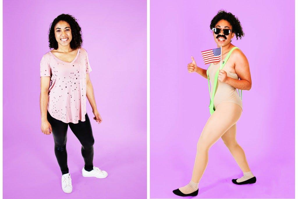 Aryanna Abraham (Jr System Admin) as Borat