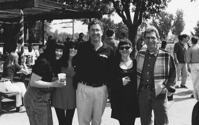 Warner Digital, 1995.  My girlfriends and I with Tim Sarnoff and Mike Fink