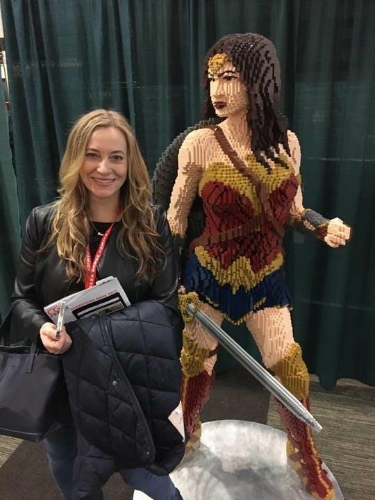 At Comic Con!