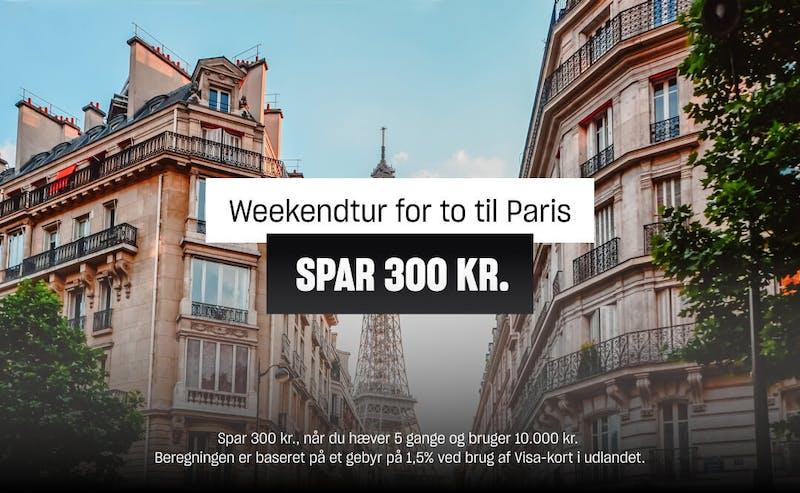 Spar 300 kr. med Lunar Premium på en weekendtur for to til Paris.