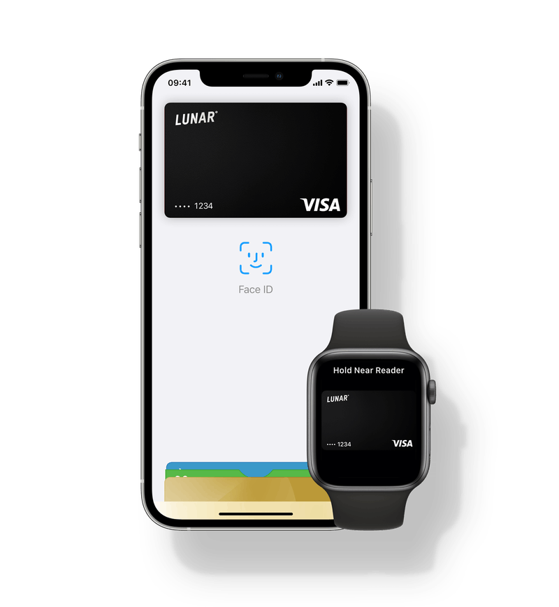 Use your Lunar card with your iPhone or your Apple device