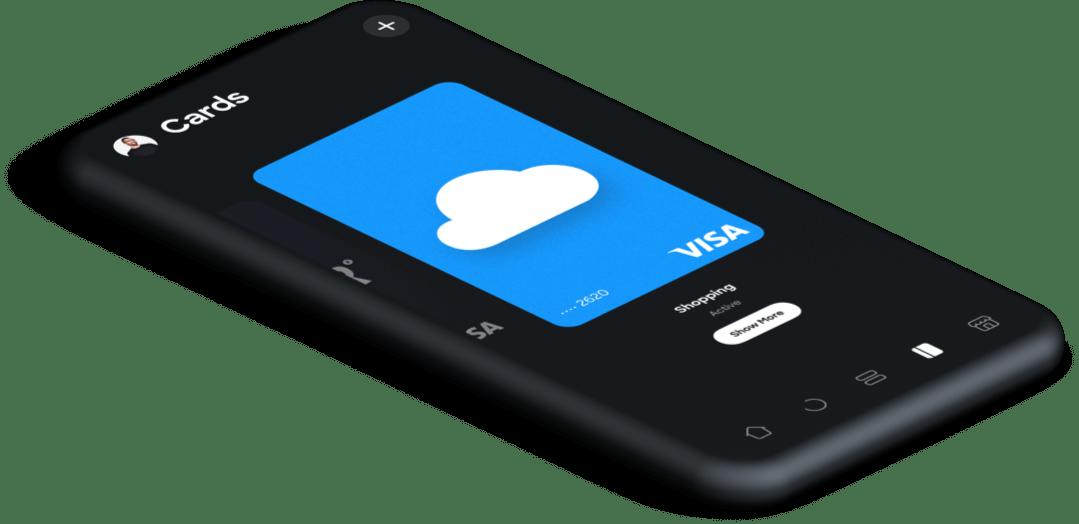 Virtuelt kort i app