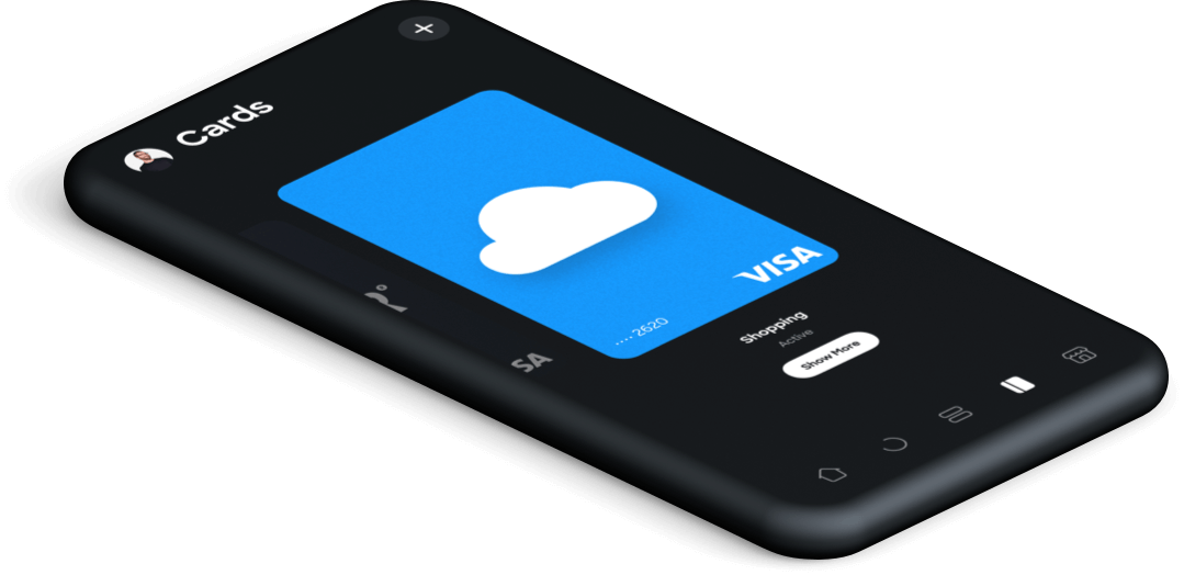 Virtual cards in app