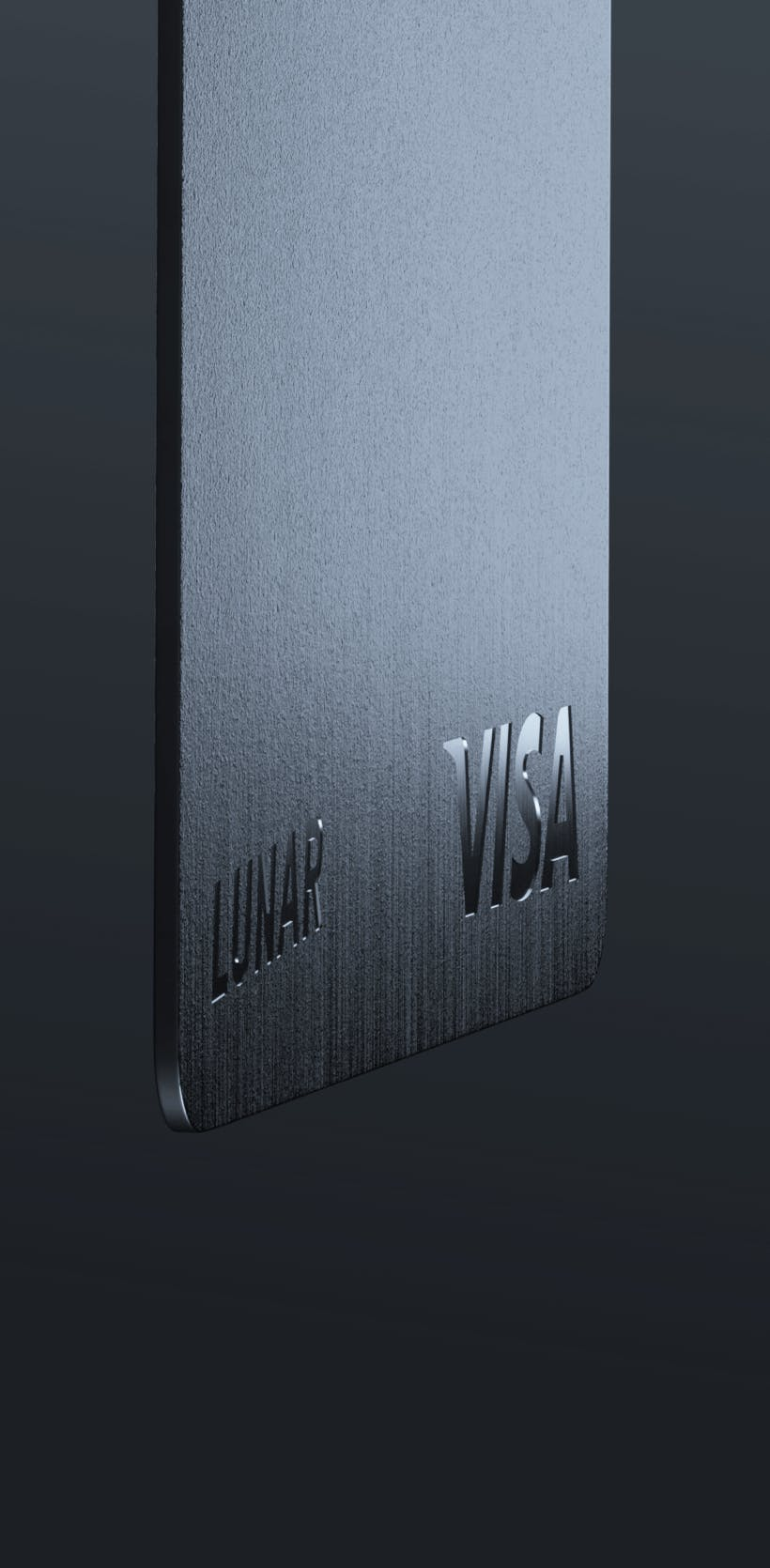 Metal card with custom design