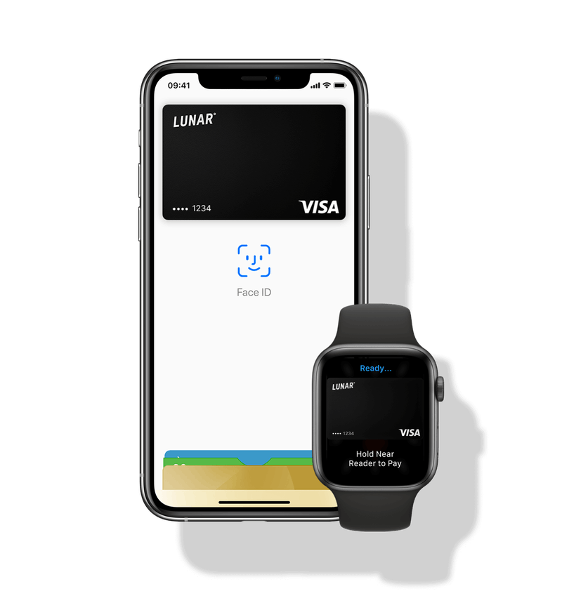 Pay with Lunar on your iPhone or Apple Watch