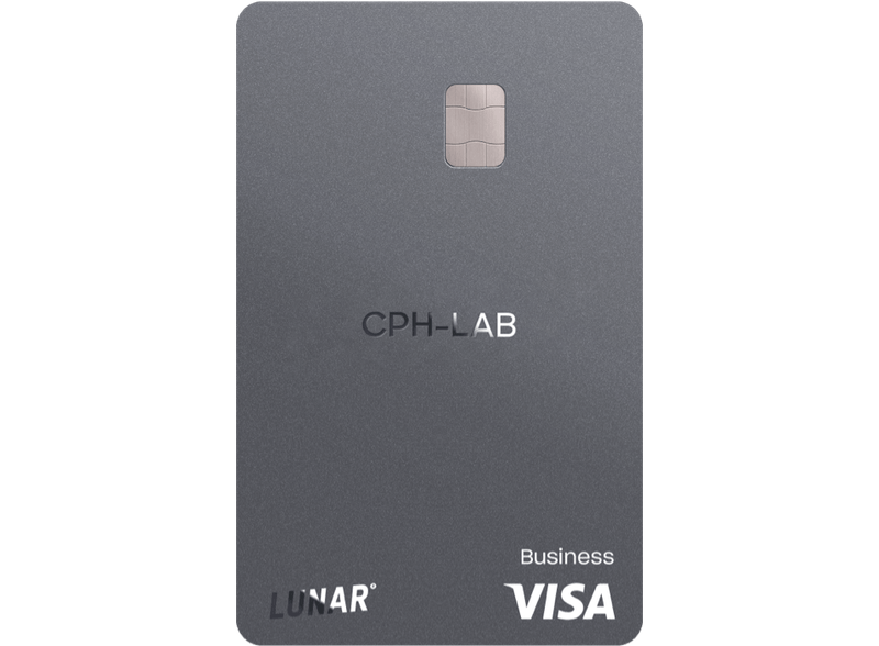 Lunar Business Grow Visa card with engraving.