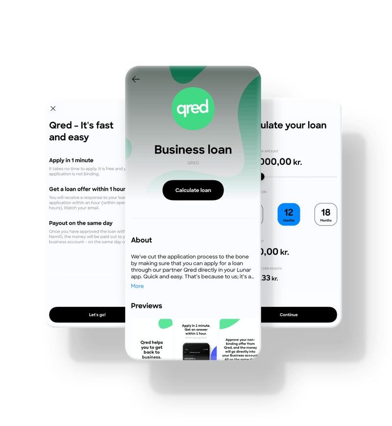 Get a loan with Qred through Lunar Business.