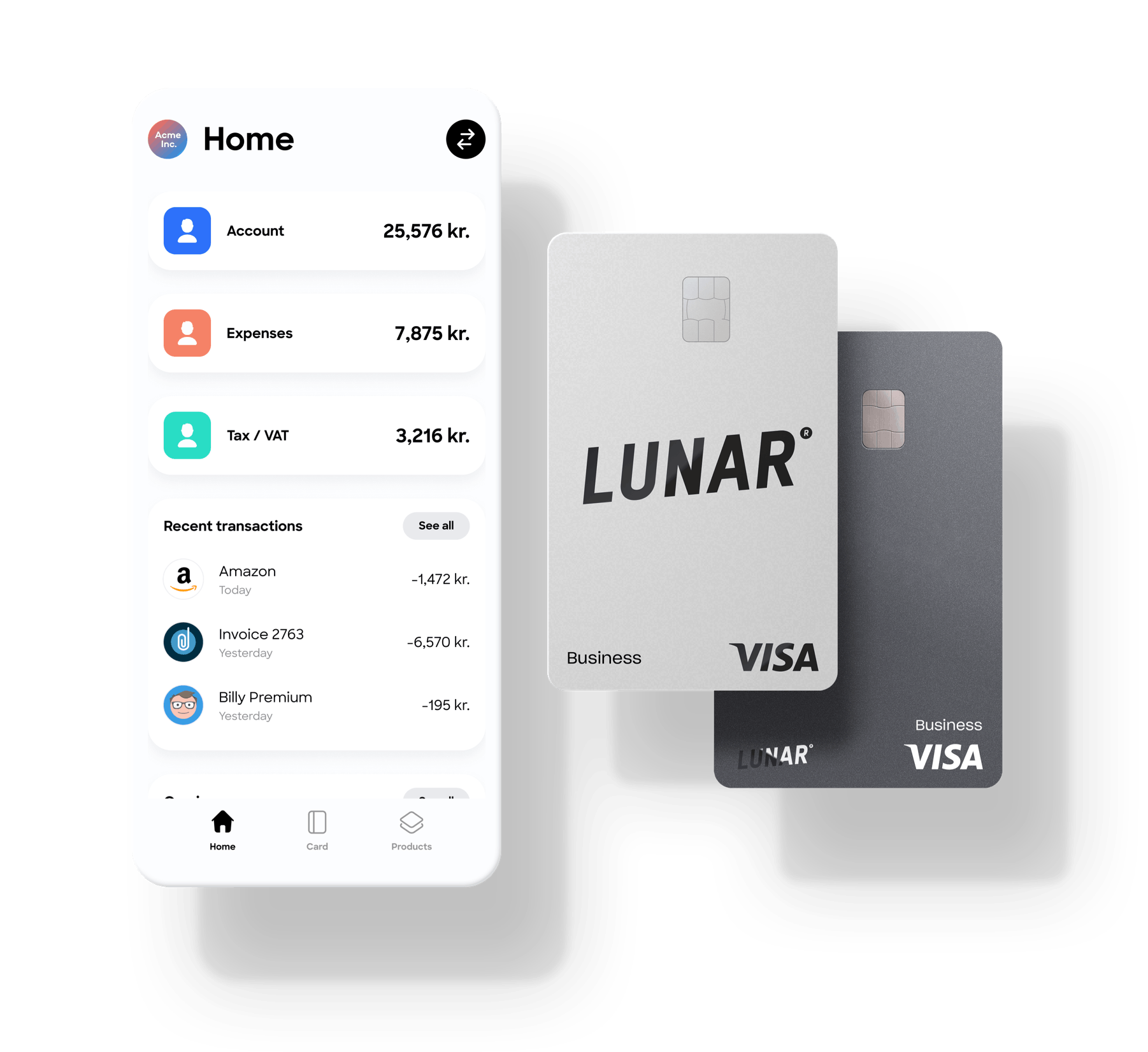 Lunar Business account and card
