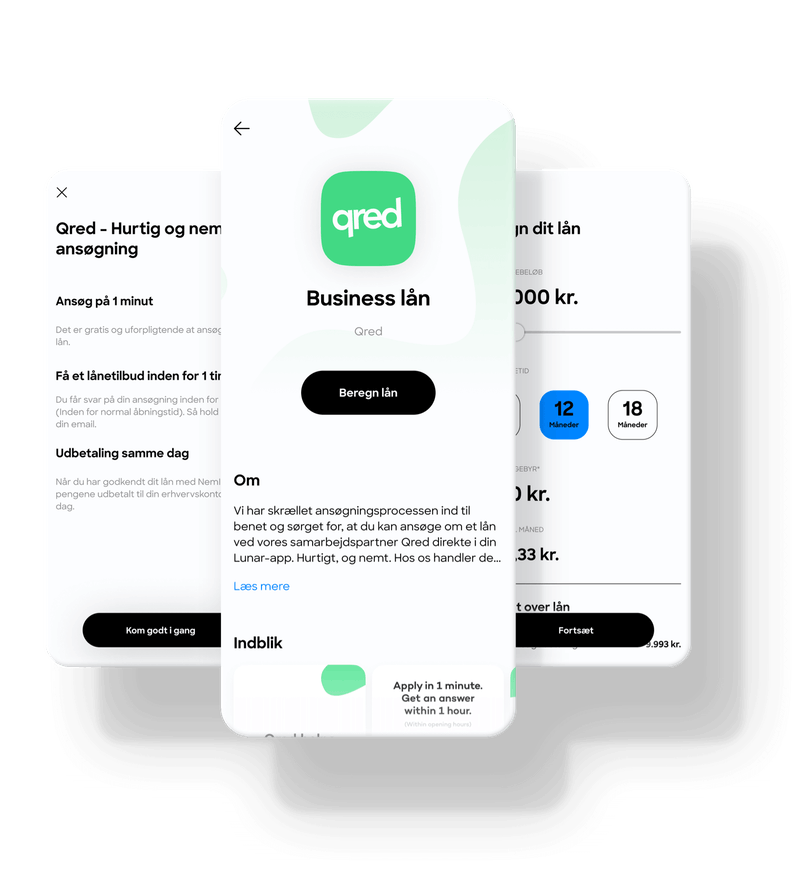Få et virksomhedslån gennem Qred med Lunar Business