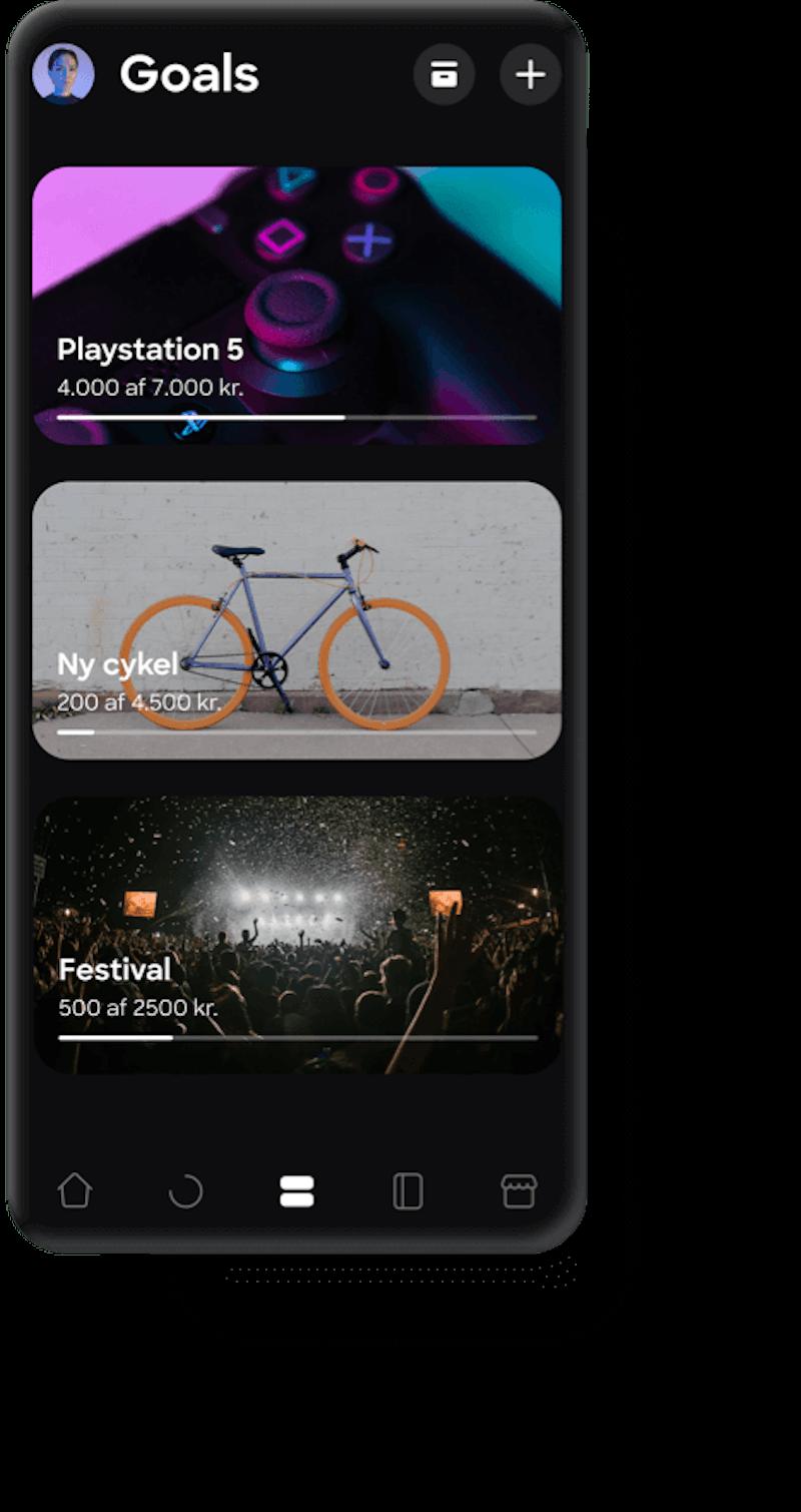 Goals in Lunar app
