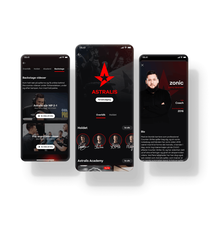 Get under the skin of your favorite Astralis player in the Lunar app.