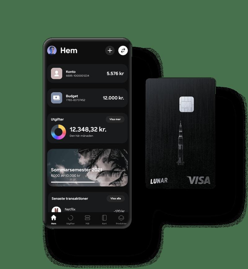 Lunar-appen och metallkort