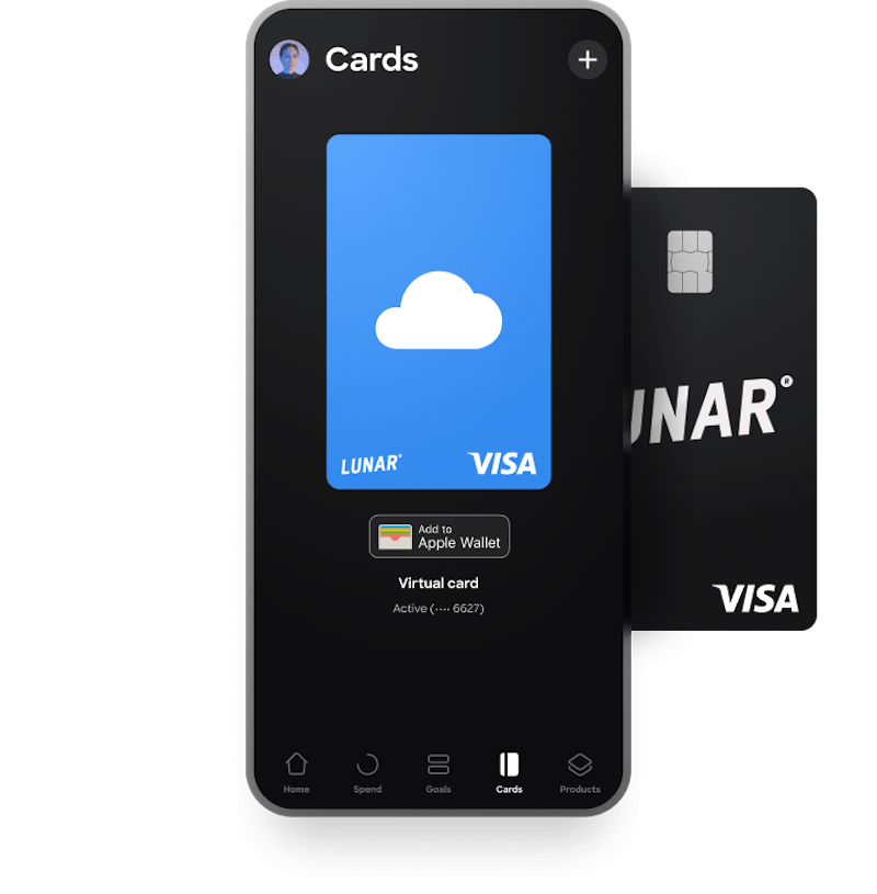 Get a virtual card instead of a physical card with Lunar
