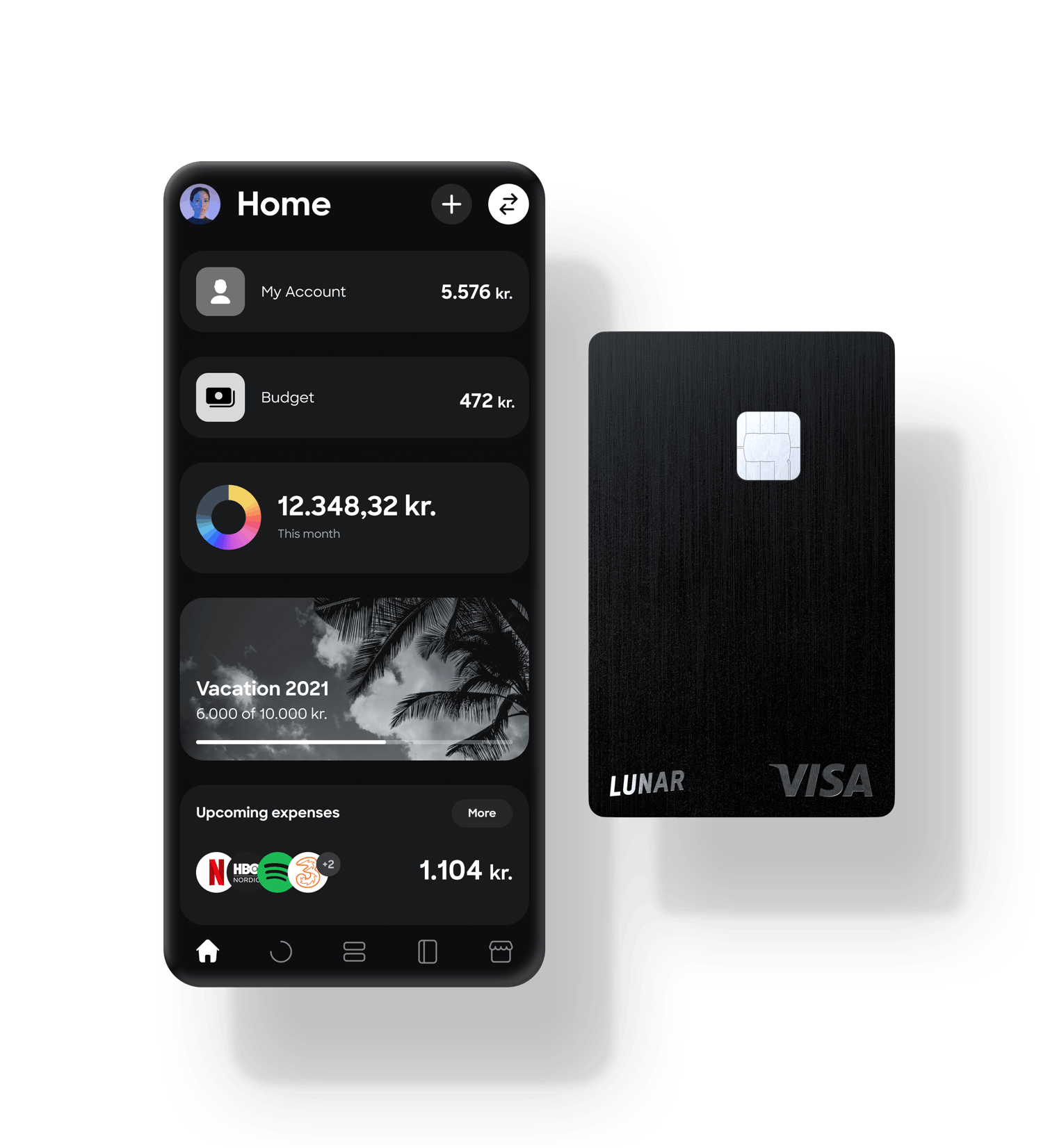 Denmark's best banking app and Denmark's first metal card