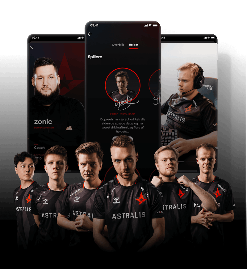 Coaching videos with the Astralis players, made specifically for Lunar users