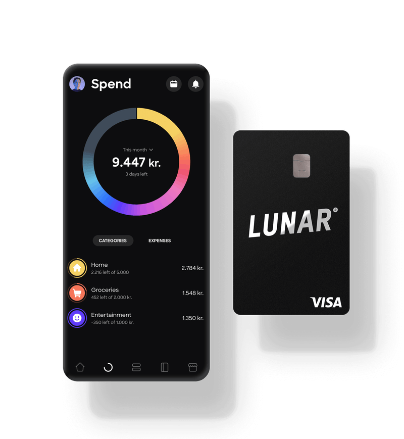 Mobile banking app and a black Visa card