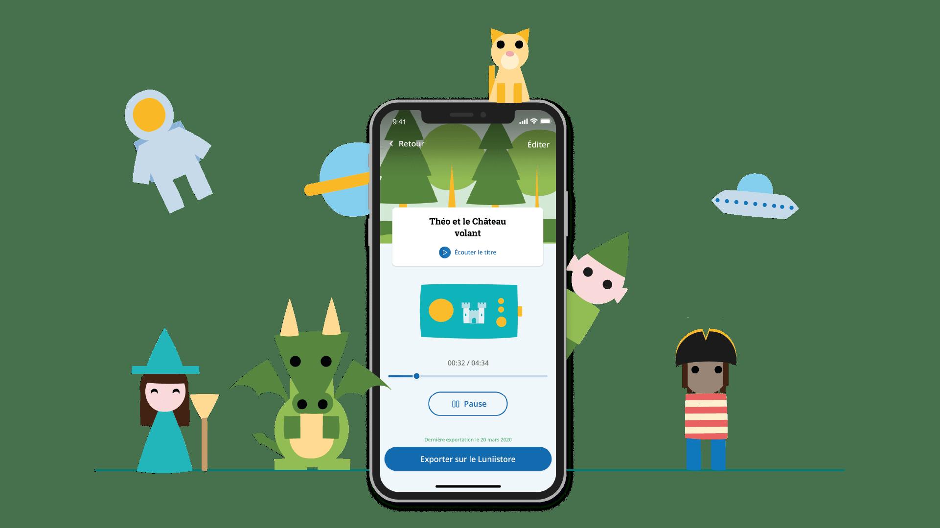 Application mobile Mon Studio Lunii pour créer ses propres histoires