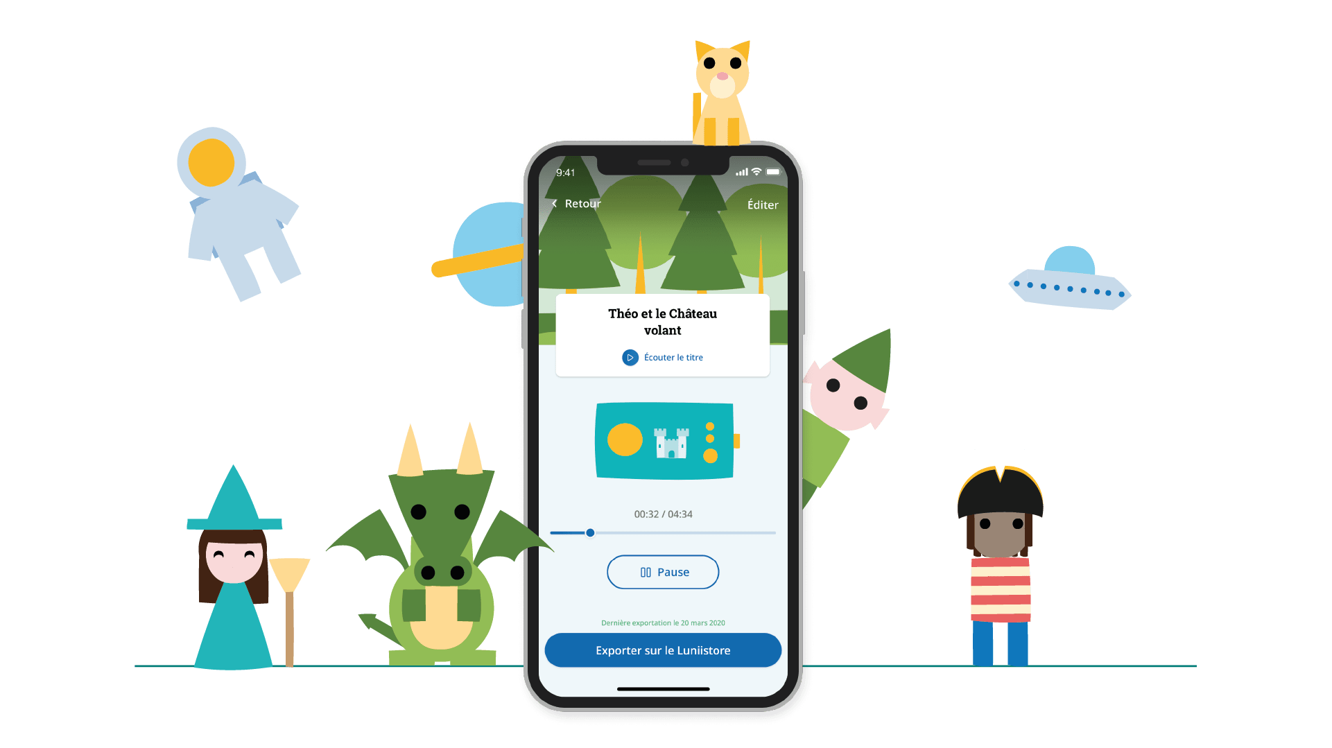 Application mobile Mon Studio Lunii - enregistrez vos propres histoires