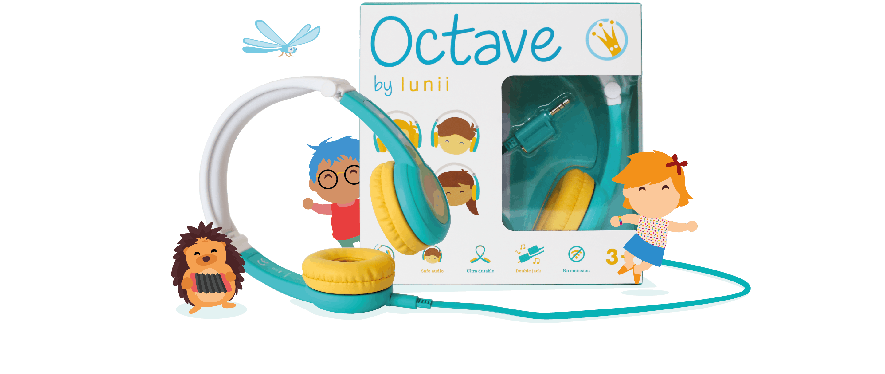 Octave, Lunii headphones, is ideal to create an immersive experience at home or on the go! Great also to share unique audio stories with friends and family.