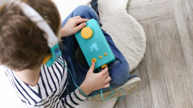 With My Fabulous Storyteller and its matching Octave headphones, your children can create their own audio stories!
