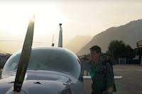 Création de vidéo aérienne en hélicoptère pour un pitch d'entreprise à Sion