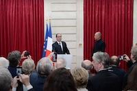 Production de vidéo d'entreprise lors d'un événement à l'Elysée, remise de légion d'honneur.
