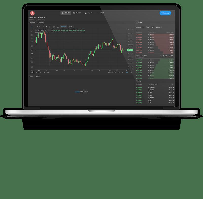 lykke trade terminal on laptop