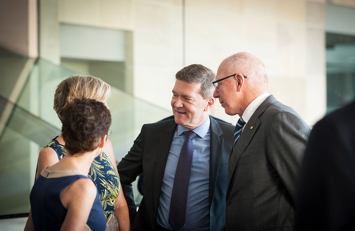 Lysicrates Prize 2016 Kim Ellis and Governor-General of Australia David Hurley
