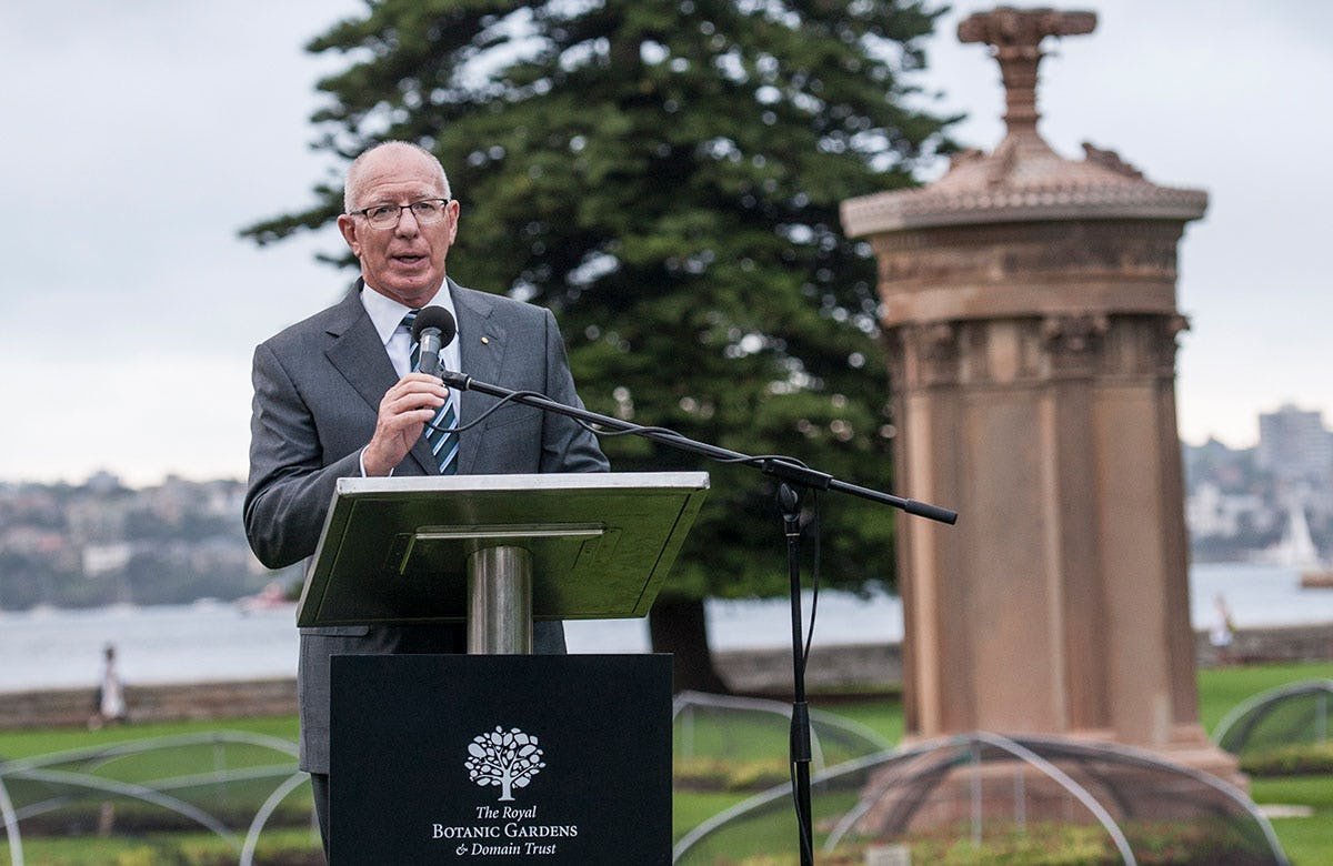Lysicrates Prize 2016 Governor of NSW David Hurley addressing Lysicrates Prize 2016