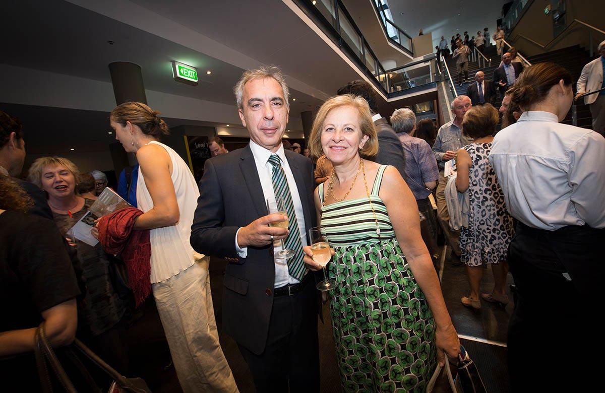 Lysicrates Prize 2016 Chairman of NESA Tom Alegounarias and Annetta Alegounarias