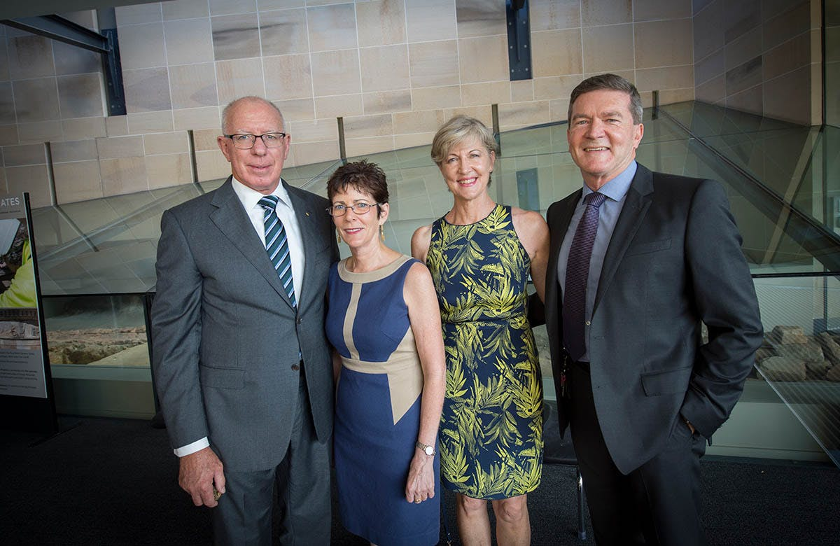 Lysicrates Prize 2016 The Governor of NSW David Hurley and Mrs Hurley and John Azarias